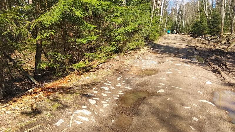 дорога на озера, старинная дорога из валунов