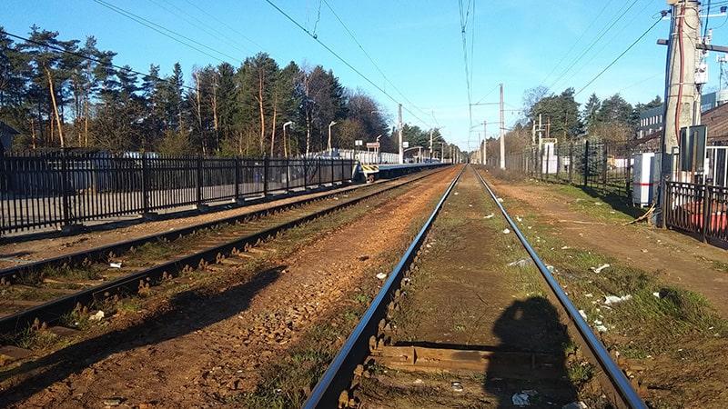 железная дорога вид со станции всеволожская