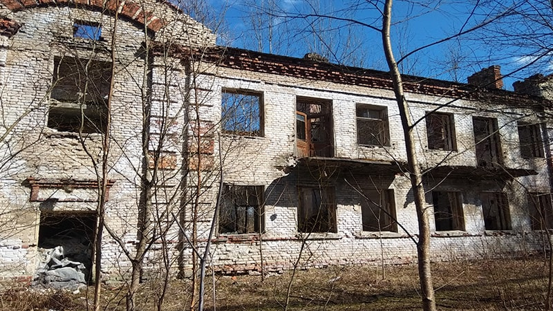 заброшенный дом ржевский полигон