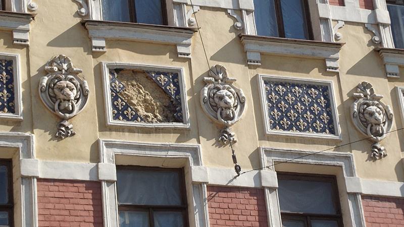 маскароны львов петербург римского корсакова дом 1