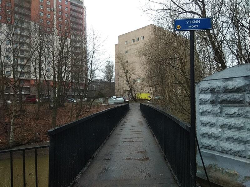 мост через реку лубья