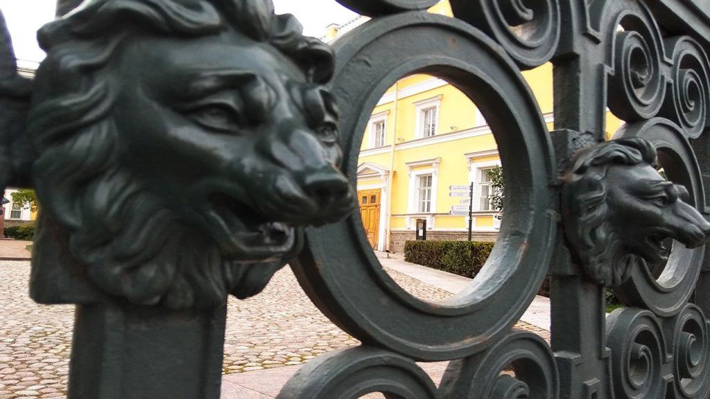 ограда польский сад.набережная фонтанки118.