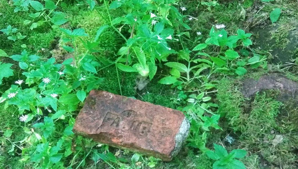старинный кирпич с развалин усадьбы лопухинка